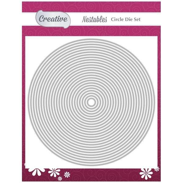 Creative Die Set Wavy Lines /& Circles Set of 3Wavy Lines Collection